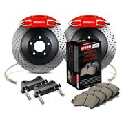 For Bmw Z4 03-08 Stoptech Touring Drilled 1-piece Front Big Brake Kit