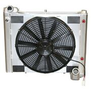 For Chevy Corvette 61-62 Dewitts Direct Fit Pro-series Aluminum Radiator W Fan