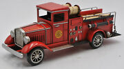 Tin Metal South Prairie Vintage Fire Engine Model Truck Firetruck Collector Edt
