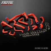 For Honda Civic Fd2 K20a 2.0l Type-r K20a Silicone Radiator Hose Kit Red