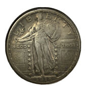 1918 D Standing Liberty Quarter Ch Au Nice Toning With Lots Of Luster Mr. C