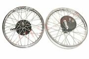 Front Rear Wheel Rim With Brake System Fits Triumph 350 @ca