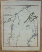 Quebec Montreal Maine 1812 Revolutionary Antique War Map By J-n Buache