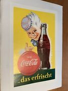 Coca Cola Original 1950's Poster From Germany