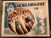 Gold Diggers Of 1933 Warner Brothers 11x14 Lobby Card Ginger Rogers Chorus Girls