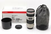 Canon Ef 70-200mm F/4 L Is Usm Lens From Japan Boxed Excellent++ Dhl
