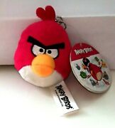 Angry Birds Backpack Clips Keychain Red Bird Plush Toy