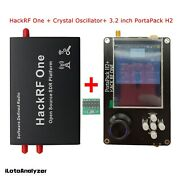 1mhz-6ghz Hackrf One W/ Shell Crystal Oscillator+ Portapack H2 3.2 Touch Screen