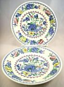 Regency Plantation Colonial Mason's Forslund 2 Saucers For Tea Coffee Cup