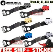 Tyrant Designs Extended Slide Stop Release For Glok 42 43 43x 48 Black Red Gold