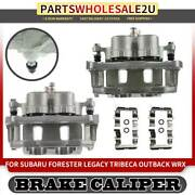 Front Left And Right Brake Calipers W/ Bracket For Subaru Legacy Forester Outback