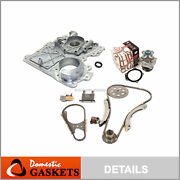 Timing Chain Kit Timing Cover Water Pump Fit 02-07 Gmc Chevrolet Hummer 3.5 4.2