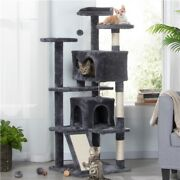 55 Pet Cat Tree Play Tower Bed Furniture Scratching Post Perches House