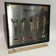 1988 Olympic Olympiad Games Mascot Framed Paper Letter Knife Set Framed Rare See