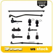 For 1993-1998 Jeep Grand Cherokee 11pcs Front Ball Joints Tie Rods Track Bar