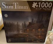 Cabin Holiday Jigsaw Puzzle The Art Of Sam Timm Puzzle 1000 Pc 27x20 New