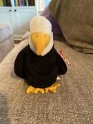Ty Beanie Baby Baldy The Bald Eagle Pvc 2-17-96 Style 4074 Errors Retired W/tag