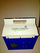 Clearly Canadian Lunch Box Radio Vintage Collectible