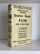 Hutchinson's Bumper Shelter Book Fun For Everyone. 1937 1st Edition Dust Jacket