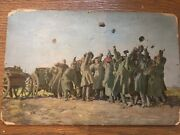 Russian Ukrainian Soviet Oil Painting From The Museum Of The Russian White Army