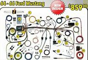 New Design 1964 1965 1966 Ford Mustang Wire Wiring Harness Kit 510125 64 65 66