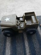 1973 Ideal Toys Mighty Army Jeep Motor Motion Friction Figure Gi Joe Vintage