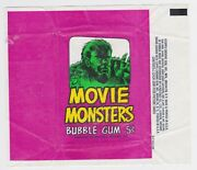 1967 Topps Movie Monsters Terror Tales 5 Cent Gum Card Wrapper Tuff