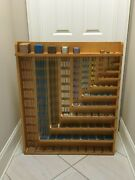 Nienhuis Montessori Bead Cabinet Set With Plastic Arrows In Wooden Box.- Glass