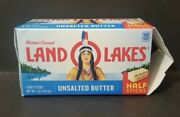 Land O Lakes Butter Box W/ Indian Native American Discontinued Cancel Culture