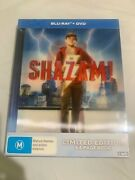 Shazam Blu Ray + Dvd Digibook Limited Edition Lenticular Cover Brand New Rare Us