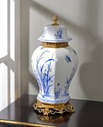 54cm European Style Chinoiserie Vase Blue And White Chinese Ginger Jar