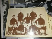 1894 Ice Hockey Cabinet Card Rare Nhl Photo Montreal Canadiens Canada Old