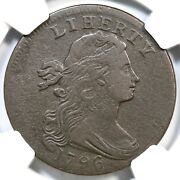 1796 S-103 R-4+ Ngc Vf Details Draped Bust Large Cent Coin 1c
