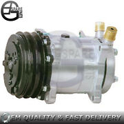 New For 5h14 2a 12v 132mm Upper Suction Exhaust A/c Compressor 5h14
