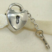 New Authentic Pandora Charm Key To My Heart 790971 Bead W Tag And Suede Pouch