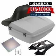 Unpainted King Tour Pack Trunk Black Hinges And Latch For 97+ Harley Touring