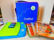 Leap Frog Leap Pad Learning System W/case And 3 Games-2001-vgc-free Shipping