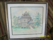Watercolor And Ink Cottage Style Landscape Scene Painting Ken Christensen