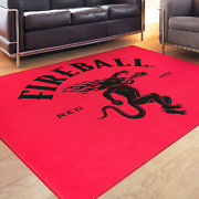 Fireball Whisky Area Rug - Ignite The Nite - Red Hot - 7and039 X 5and039 - Canada Whiskey