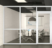 Cgp Office Partition System Glass Aluminum Wall 9andrsquox9andrsquo W/door White Semi