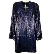 Nwt Ryse The Label Sequined Cocktail Dress Black Women Size M