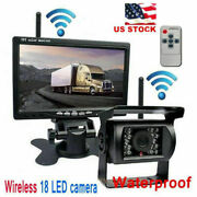 7 Ir Rear View Night Vision Back Up Camera Wireless System Monitor For Rv Truck