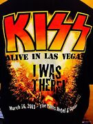 Kiss - Alive Show Las Vegas 2003 Palms Hotel And Casino March 16th Shirt Xl