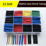 560pcs Heat Shrink Tubing 21 Electrical Wire Cable Wrap Insulation Tube Kit