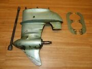 Vintage Johnson Po15 Lower Unit With Drive Shaft And Upper Cavitation Plates Nice