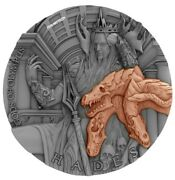2018 2 Oz Silver Niue 5 Hades Gods Of Olympus Antique Finish Coin With Coa 88