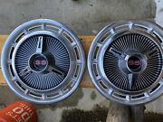 Set Of 2 1963 1964 1965 1966 Impala Ss Spinner Hubcaps