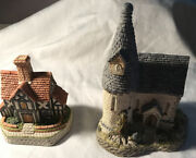 David Winter Cottages Lot Of 2 The Chapel 1984 And The Rectory 1993