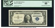 Mismatched Serial Numbers Error Fr. 1619 1 1957 Silver Certificate. Pcgs