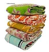 Wholesale Lot Of 10 Pieces Vintage Handmade Kantha Quilts,reversible Throws